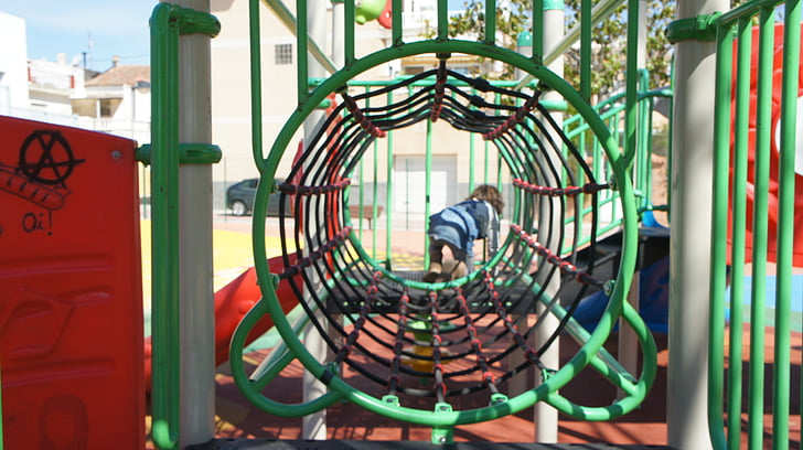 Parc, joc, infantesa, nens, nen