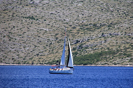 sail, ship, sailing boat, sailing vessel, blue, sea, croatia