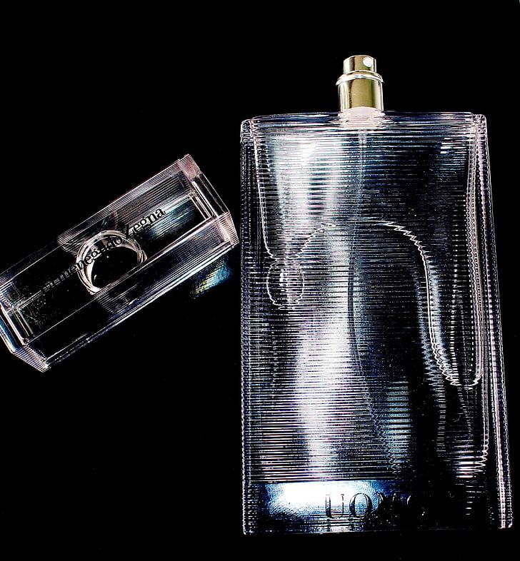 Perfum, fragància, ampolla, polvoritzador, tapa, cosmètica, mascle