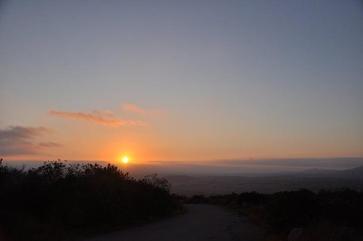 posta de sol, natura, l'aire lliure, capvespre, tranquil