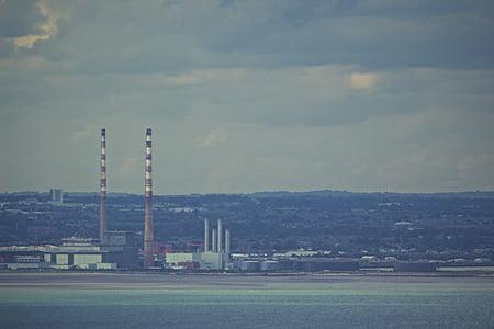 photo, concrete, building, daytime, industrial, factories, chimneys