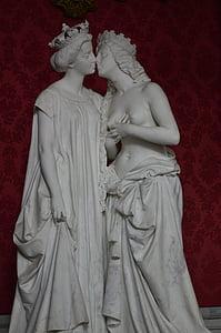 Napoleon, museet, staty, skulptur, kvinna