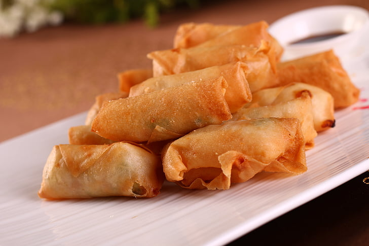 gourmet, fried foods, spring rolls, traditional cuisine