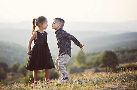 Арон, arsa, модел, малко, целуване, Сладък, усмивка