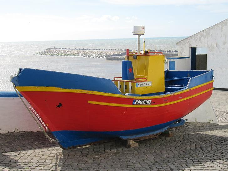 fiskebåt, Boot, hamn, färgglada, Portugal, Fischer, maritima