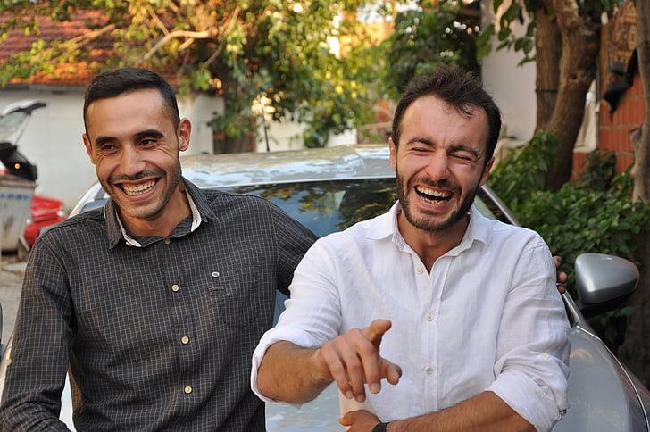 l'amistat, sinceritat, confiança, somrient, mitjan adult, homes adults mitjans, dues persones