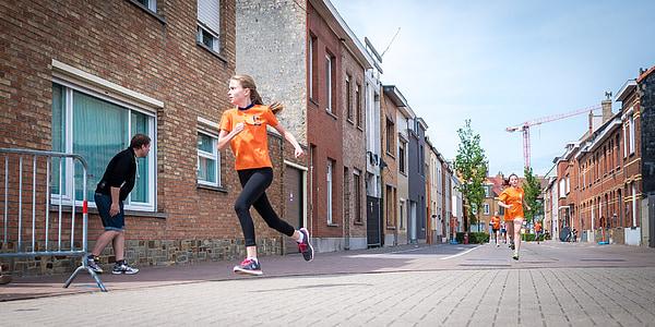 noia, corrent, esport, l'escola, l'exercici, fúting, a l'exterior
