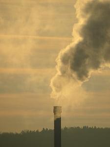 промисловість, дим, димохід, забруднення, Вихлопні гази, промислові завод, захист навколишнього середовища
