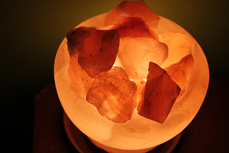soola kristall, lamp, kristallid, soola kristallid