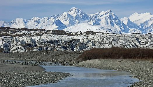 Glacera de Brady, gel, neu, Badia de la glacera, paisatge, escèniques, desert