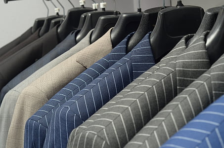 vestit, corbata, homes, en una fila, gran grup d'objectes, l'interior, no hi ha persones