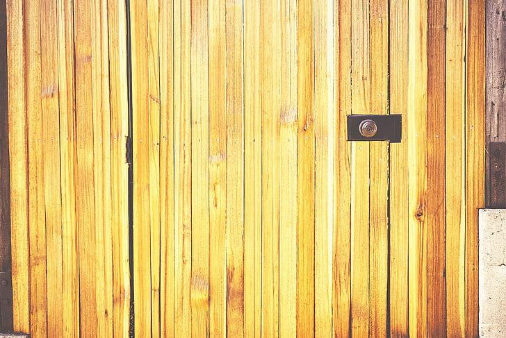 Фото, закрити, коричневий, дерев'яні, двері, Деревина, паркан