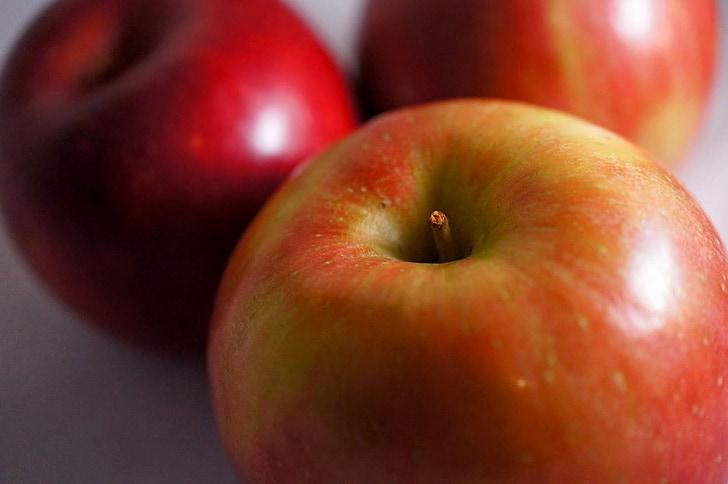 āboli, sarkana, augļi, veselīgi, pārtika, svaigu, bioloģiskās lauksaimniecības