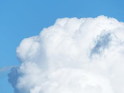 sky, clouds, cloud towers, fleecy, background, desktop background, wallpaper