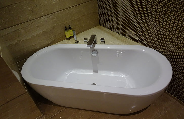 욕조, 욕조, 욕실, 현대, 스타일, 위생, 실내