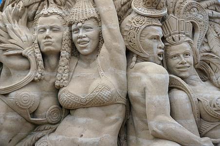 sand sculptures, sand, sculpture, structures of sand, artwork, festival, baltic sea