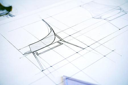Résumé, architecte, conception architecturale, art, plan d'action, flou, entreprise