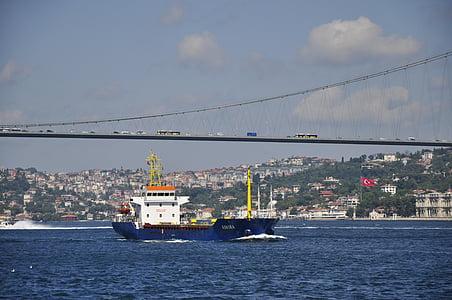 istanbul, strait, bridge
