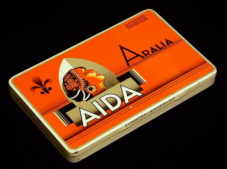 Aida arralia, cigarrer, Box, paketet, tobak, cigarett, nikotin