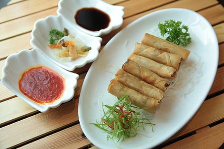 Rotllets de primavera, cuina xinesa, menjar xinès, xinès, cuina, aliments, Restaurant