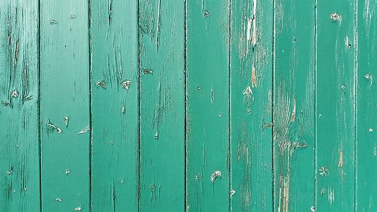 dřevo, Dřevěná lišta, Barva, zelená, staré, desky, dřevěné desky