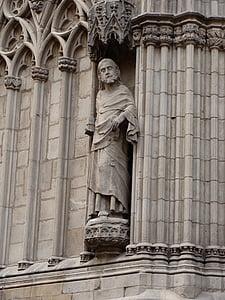 Saint, szobor, szobrászat, Art, középkori, gótikus, keresztény