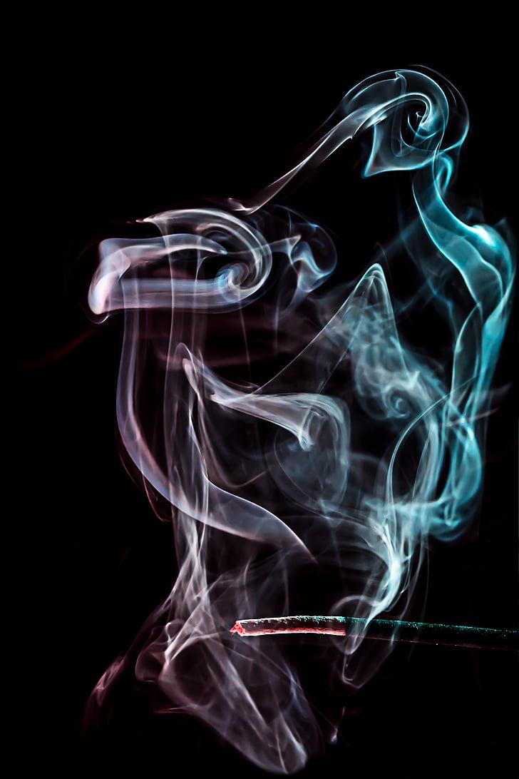 fum, llum, estat d'ànim, color, bonica, fum - estructura física, resum