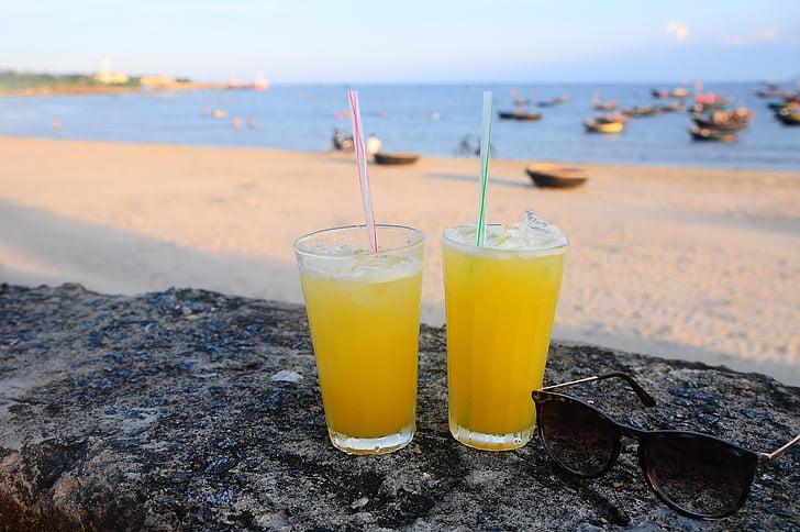 relaxar-se, Mar, platja, begudes, Vietnam