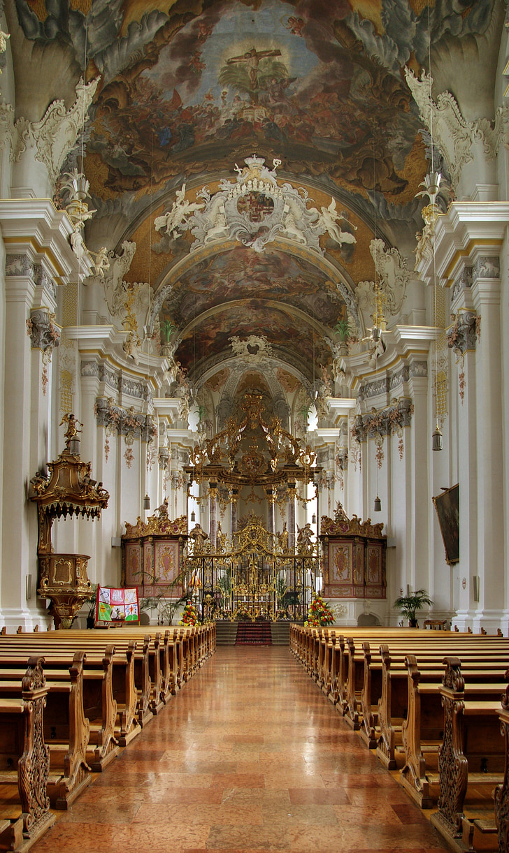 church, baroque, parish church, saint paulin, st paulin, trier, germany