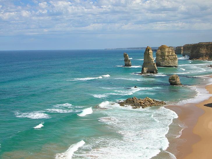океан, голям автомобилен океана, Австралия, плаж, Тихия океан, море, вода