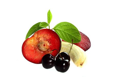 voće, Portiri, mrtva priroda, zdrav, tržište, banana