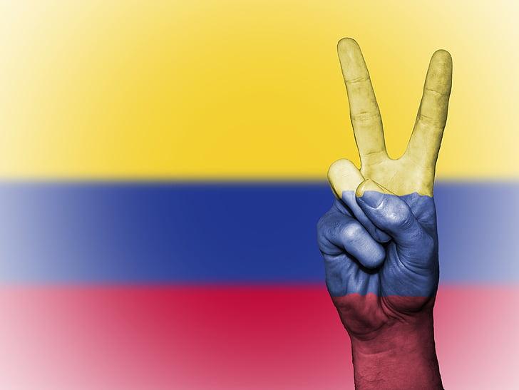 Columbia, colombià, nació, fons, Banner, colors, país