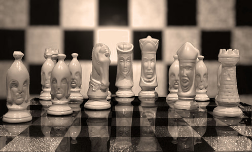 chess, black white, chess game, chess pieces, strategy, chess Board, pawn - Chess Piece