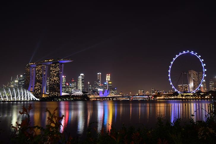 η περιοχή Marina bay, Κήπος από τον κόλπο, Σιγκαπούρη, Κήπος, πολύχρωμο