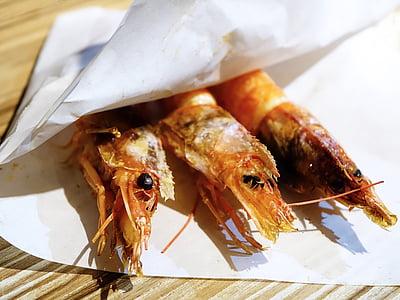 EBI no shioyaki, Giapponese, gamberetto, gamberetti, frutti di mare, griglia, cotto