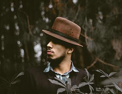 lidé, muž, Guy, klobouk, móda, Příroda, strom