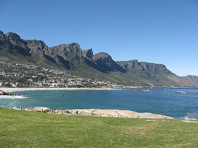 cape town, south africa, travel, ocean, mountain