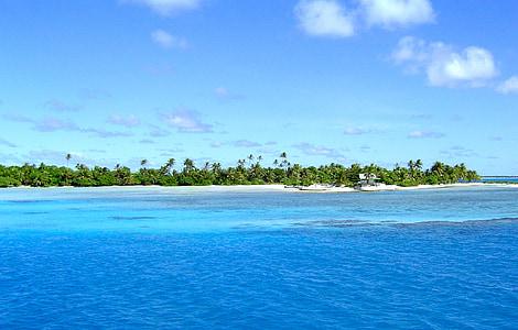 ıssız ada, Göksel manzara, ıssız beach, cennet, deniz manzarası, tropik ada, Deniz