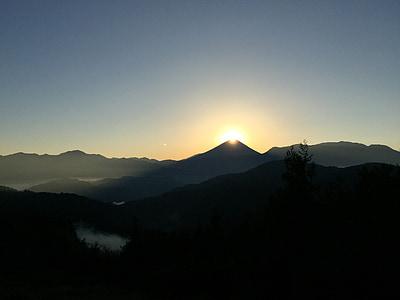 fuji diamante, Alba, Mt. fuji, Yamanashi, montagna, natura, tramonto