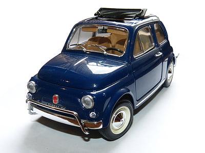 Zabawka, Samochodzik, miniaturowe, Fiat 500, samochód, pojazdów lądowych, transportu