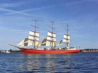 ship, tall, vessel, nautical, sail, boat, ocean