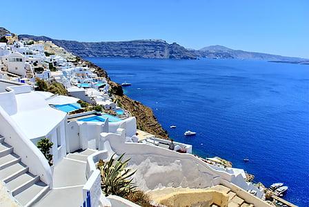 Hy Lạp, Santorini, Bãi biển, mặt trời, Ngày Lễ, mùa hè, kỳ nghỉ