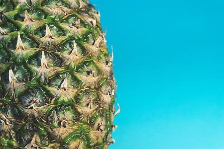 biru, Makanan, buah, makanan sehat, nanas, tekstur, buah tropis