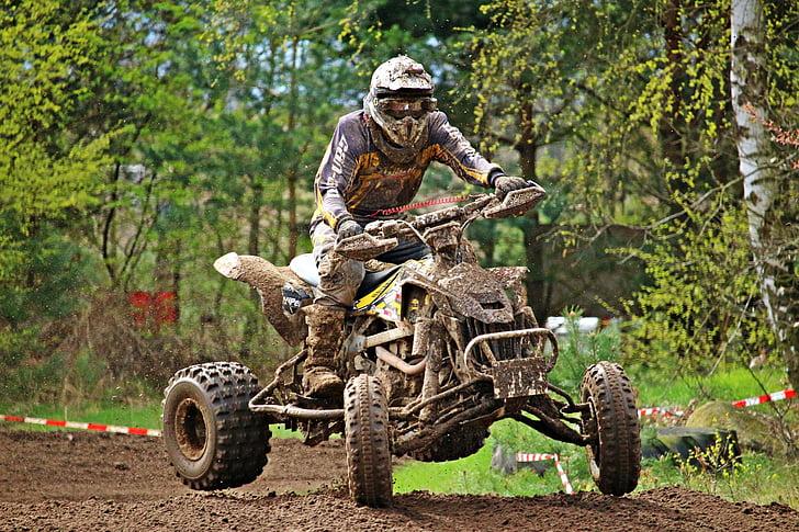 Quad, motocross, motocross vožnja, križ, terenska vozila, motocikl, ATV