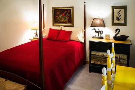 bedroom, guest room, sleep, bed chamber, boudoir, bedding