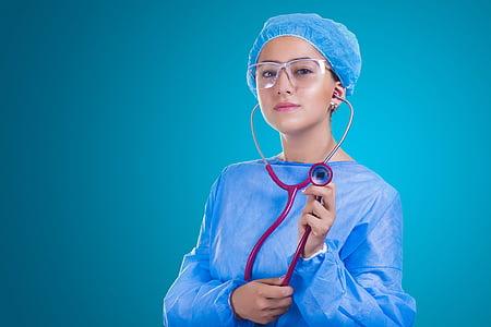 õde, stetoskoop, ravimi, anestesioloog, operatsioon, Ole tänatud, arst