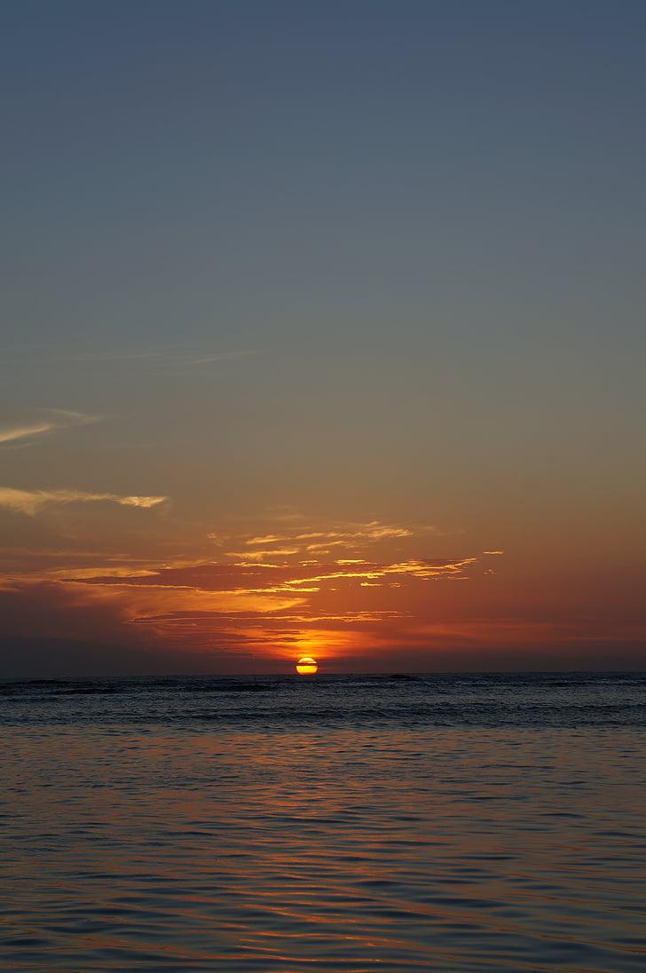 posta de sol, sol, fons posta de sol, viatges, oceà, horitzó