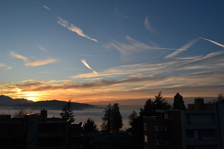 Sky, naplemente, napnyugtakor ég, utazás, szezon, kültéri