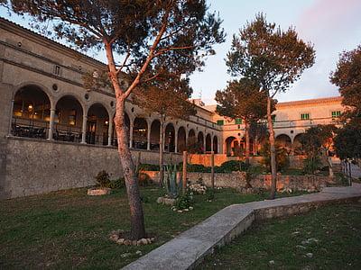 arcadenbogen, Arcades, kloster cura, Cura, Algaida, Courtyard, Hof