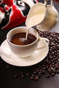 cafè, cafè amb llet, grans de cafè, Copa, beguda, cafè exprés, cafeïna